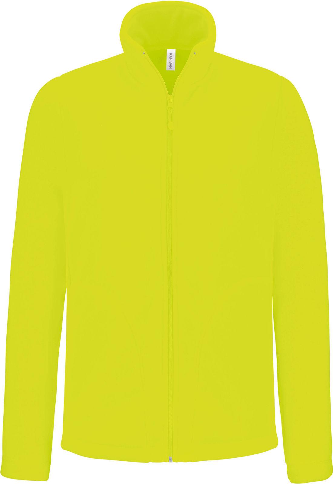Veste polaire jaune fluo